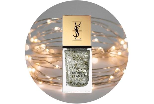 10 nuevos esmaltes de uñas para usar esta temporada de fiestas - ysl-beauty-la-laque-couture-holiday-beauty-in-silver-clash-1024x694