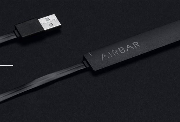 Un gadget para convertir a tu Macbook en touchscreen - airbar-laptop-1024x694