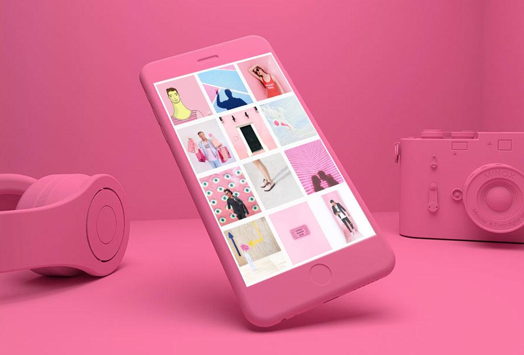 cuentas de Instagram con mucho color ¡rosa!