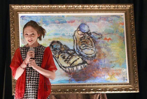 Autumn de Forest: tiene 14 años, es pintora y la comparan con Picasso y Warhol - autumn-de-forest-exposicion-1024x694
