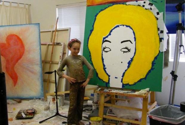 Autumn de Forest: tiene 14 años, es pintora y la comparan con Picasso y Warhol - autumn-de-forest-kid-1024x694