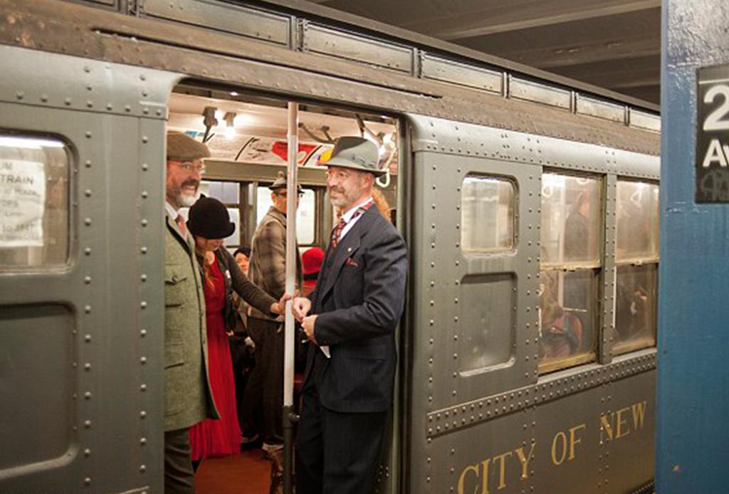 línea secreta del metro de Nueva York con vagones antiguos