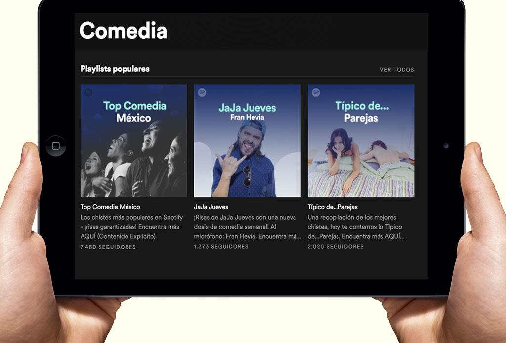 Si te gusta la comedia, Spotify tiene un canal hecho para ti