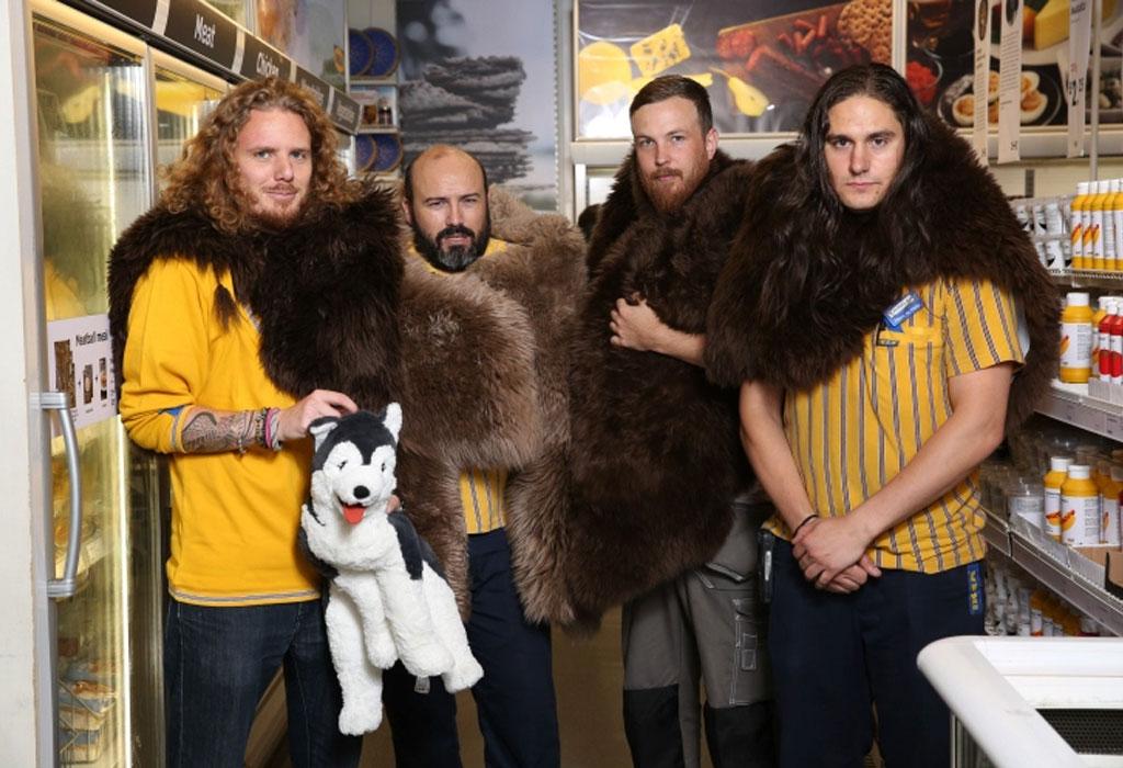 Disfrazarte de Jon Snow nunca fue más fácil y los trabajadores de Ikea los saben - got-ikea-workers
