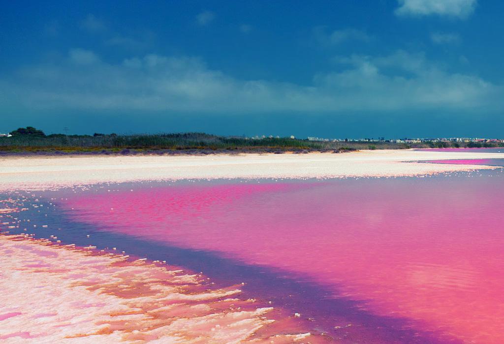 Destinos donde encontrarás lugares con agua rosa - senegal