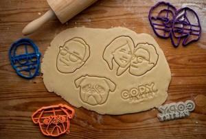 Selfie Cookie Cutters: ten tu rostro plasmado en una galleta