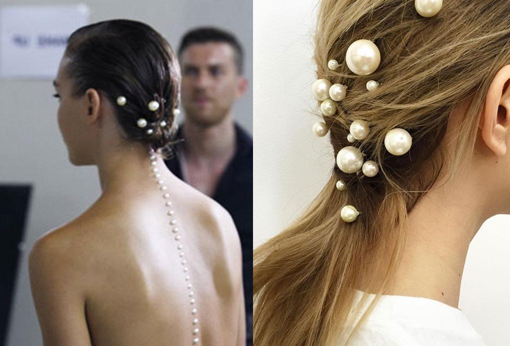 Transforma un peinado sencillo ¡con perlas!