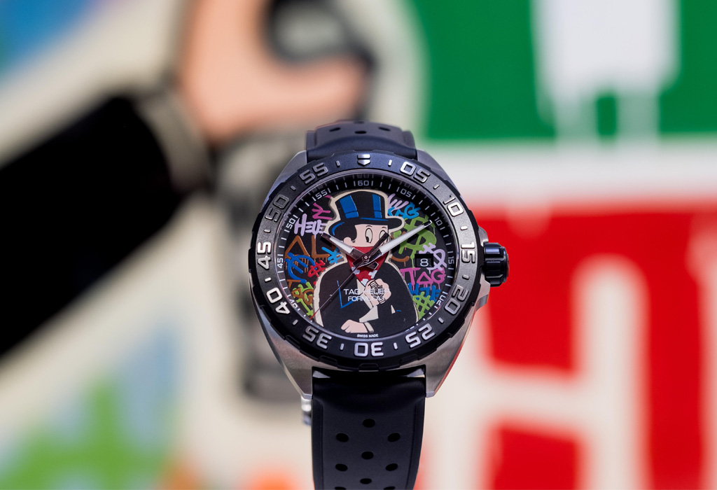 Tag Heuer colaboró con el artista Alec Monopoly y no solo crearon un reloj - tag1