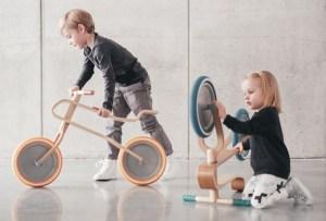 Así se ve una bici de madera para niños del siglo XXI