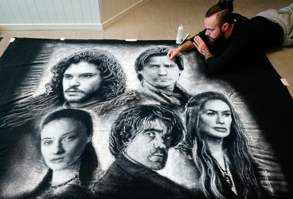 Dino Tomic, el artista que pinta a dos personajes en un solo lienzo
