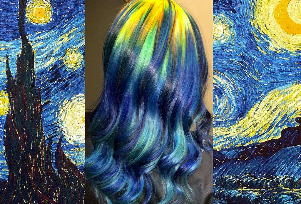 ¡Hay una estilista que tiñe el pelo para que el tono quede igual al de pinturas famosas!