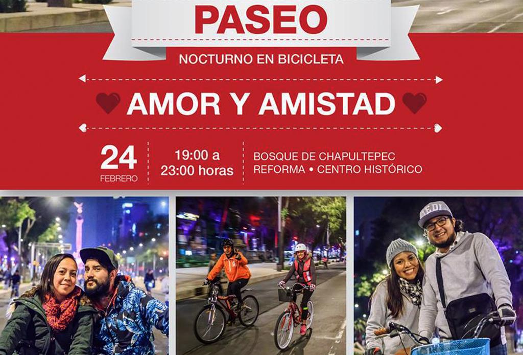 Paseo nocturno en bici: Día del Amor y la Amistad - rodada-febrero