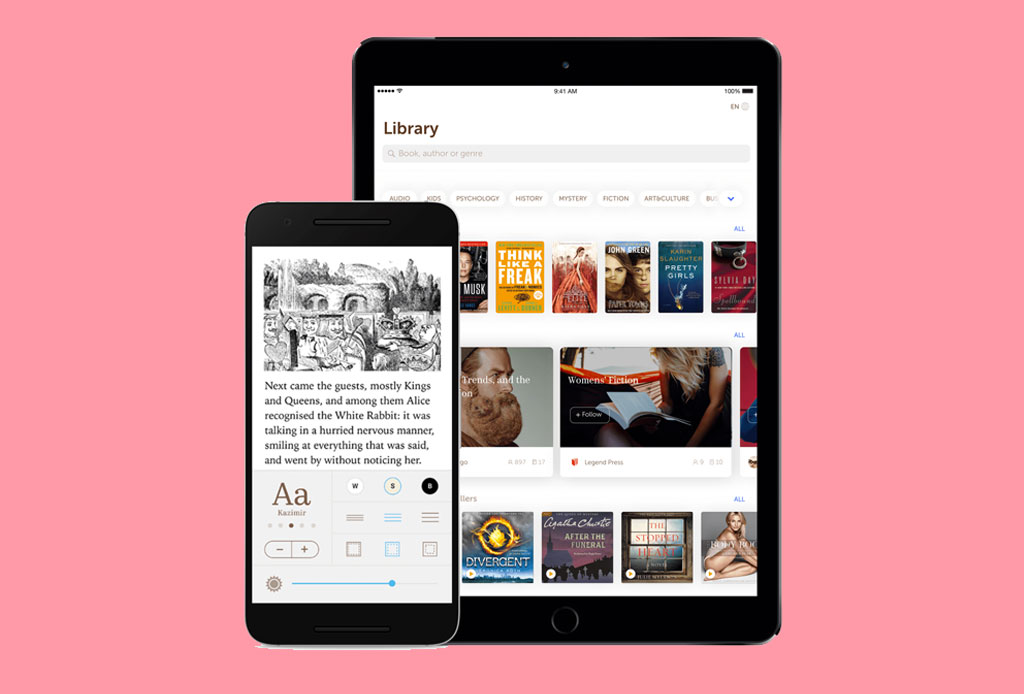 Conviértete en un E-reader y lee tus libros favoritos en estas apps - bookmate