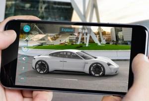 Porsche presenta la app «Mission E» Realidad Aumentada