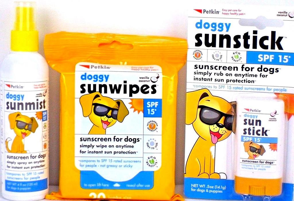 Accesorios que harán entrar en mood veraniego a tus perros - sunscreen