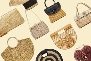Originales bolsas de palma y bambú para complementar tu outfit veraniego