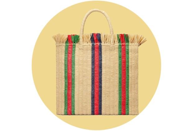 Originales bolsas de palma y bambú para complementar tu outfit veraniego - gucci2