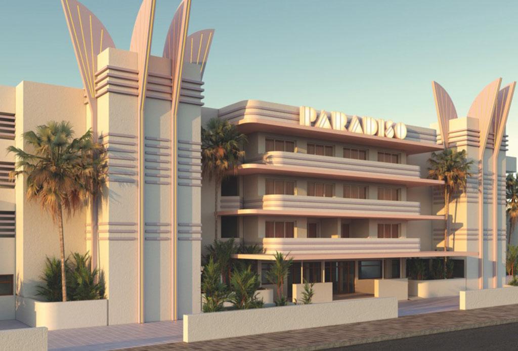 Este es el hotel perfecto para los amantes del arte y el color rosa