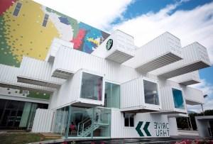 El Starbucks más sustentable en el mundo está hecho de contenedores