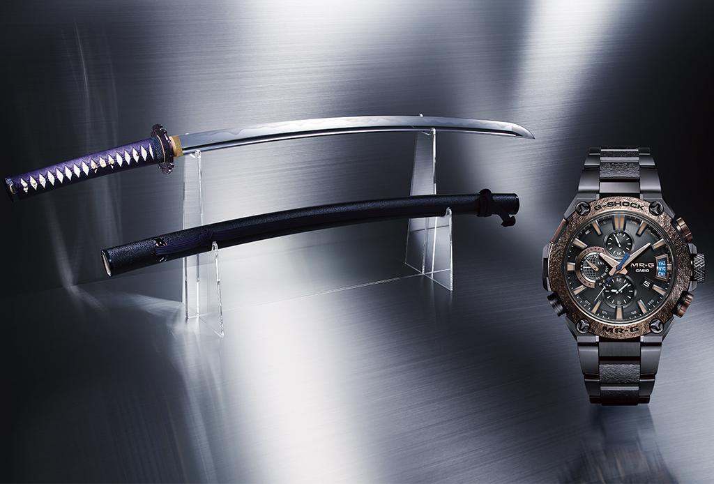 G-Shock forjó un increíble reloj como espada japonesa