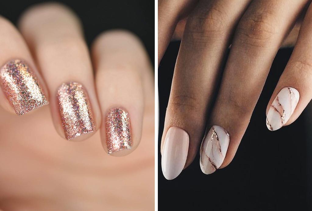 Lleva el rose gold en tu manicure, inspírate con estos diseños