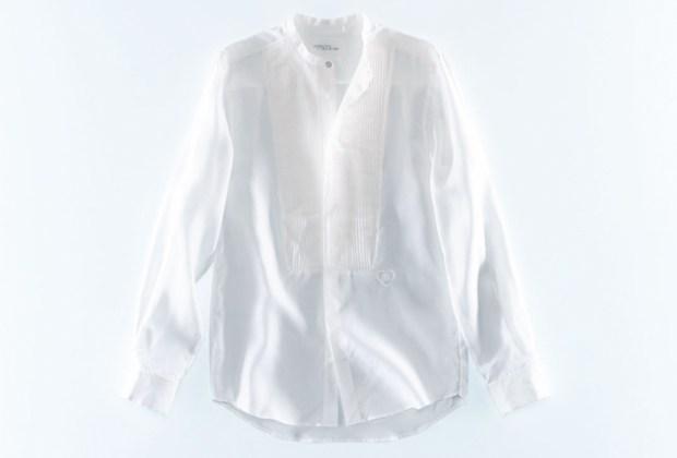 10 piezas de Giambattista Valli x H&M para lucir espectacular en tus fiestas de fin de año - camisa-seda-giambattista-valli-hm