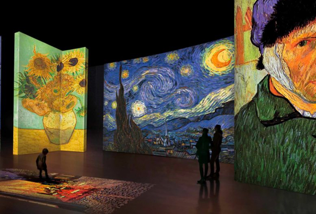 Estas son las exposiciones abiertas en la CDMX durante el mes de FEBRERO - van-gogh-live-1024x694