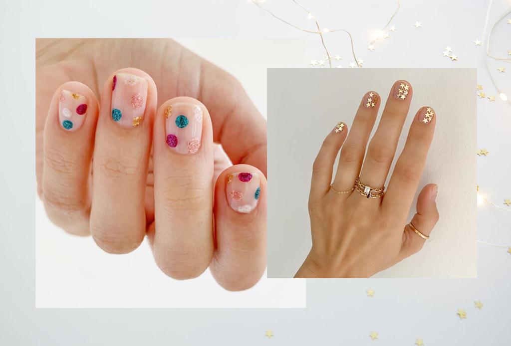 Diseños minimalistas para llevar la Navidad en tus uñas