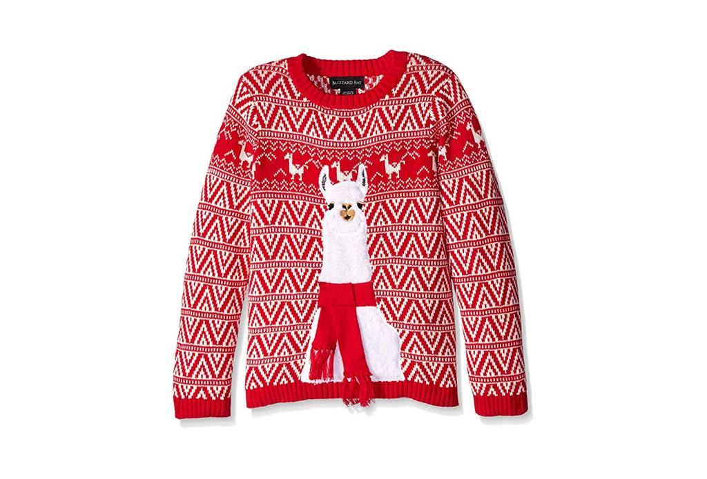 Checa estos ugly sweaters para regalar esta Navidad - ugly-sweater-llama