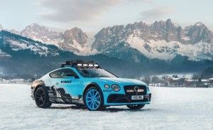 Este Bentley edición especial, lo puedes manejar a toda velocidad en la nieve