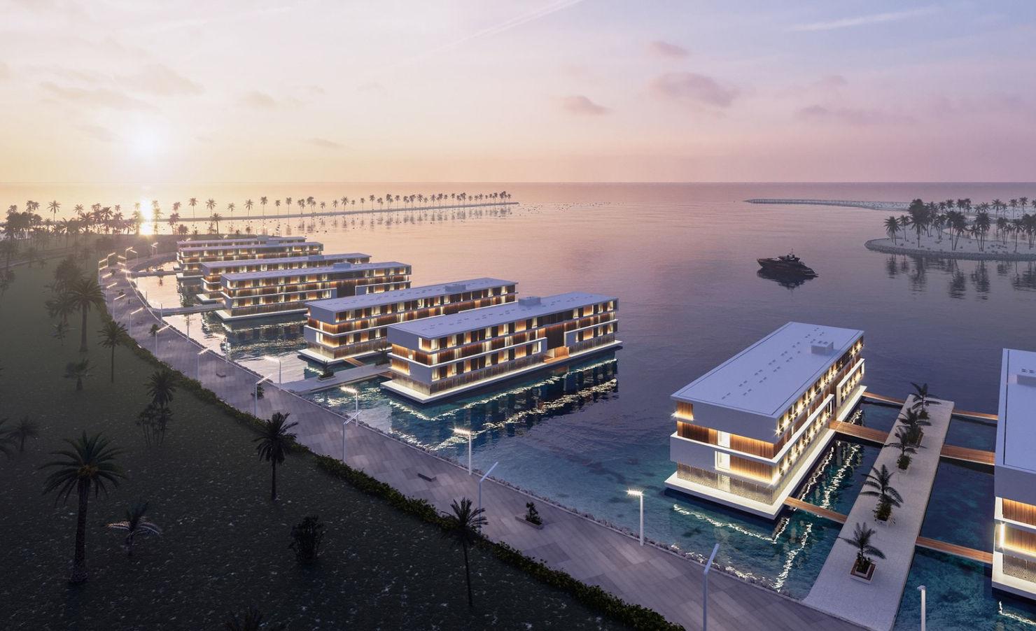 Los hoteles flotantes que están construyendo para Catar 2022