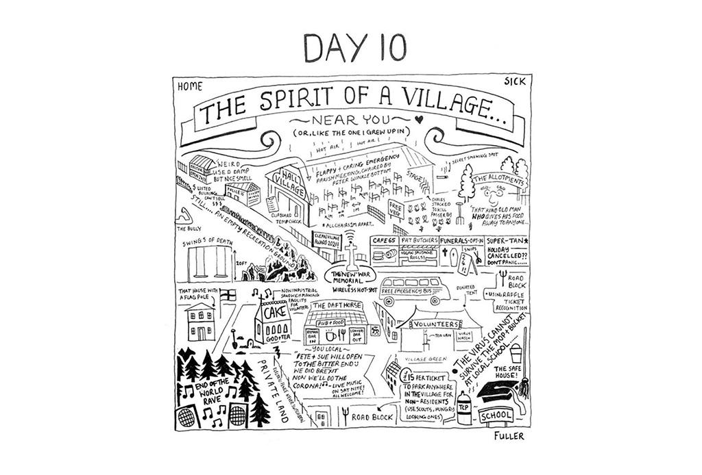 Esto es lo que pasó cuando un artista de mapas estuvo en cuarentena - gareth-fuller-11