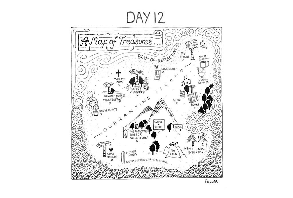 Esto es lo que pasó cuando un artista de mapas estuvo en cuarentena - gareth-fuller-13