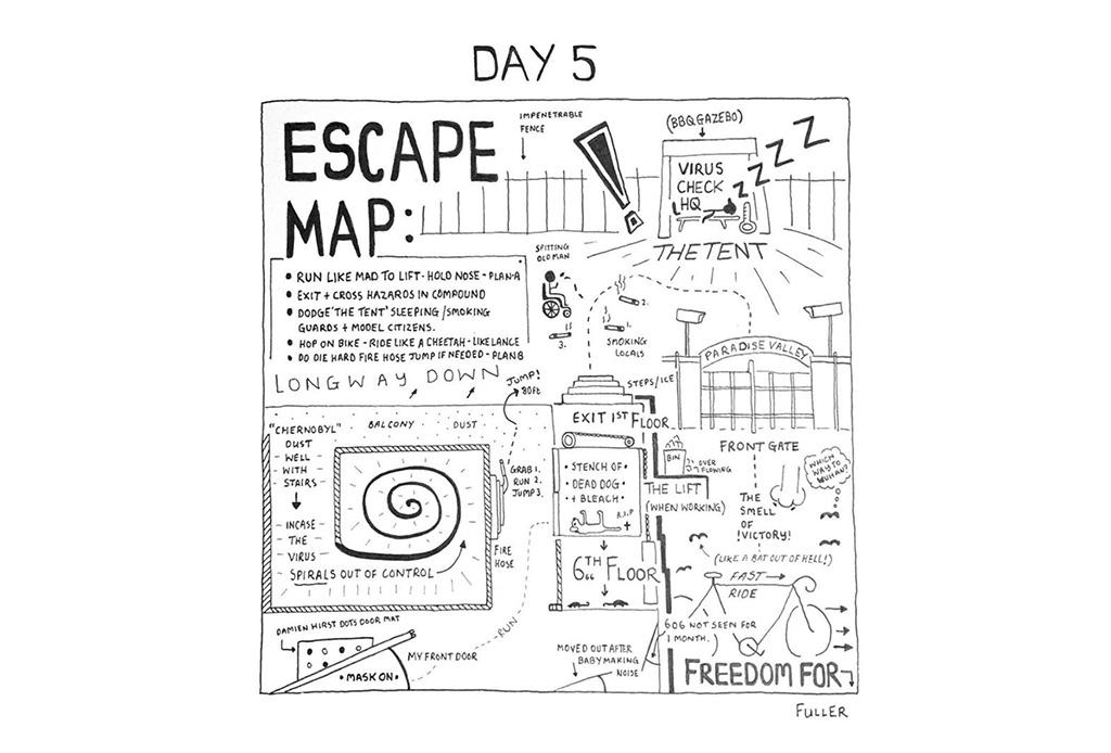 Esto es lo que pasó cuando un artista de mapas estuvo en cuarentena - gareth-fuller-6