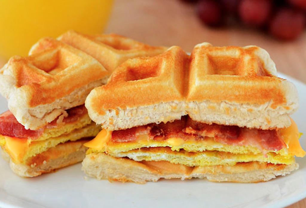 3 recetas de sándwiches de waffles que amarás y son deliciosos - sandwiches-waffles-1