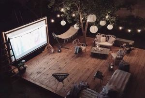 Todo lo que necesitas para armar una tarde de cine al aire libre en casa