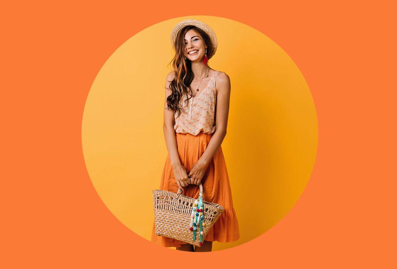 Agrega estos colores a tu ropa de verano para entrar en el mood - orange-peel-pantone-2020