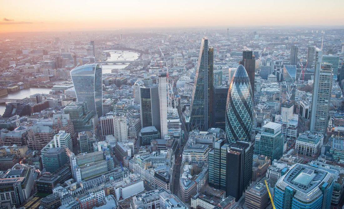 Estas son las mejores ciudades para los amantes de la tecnología - londres-skyline