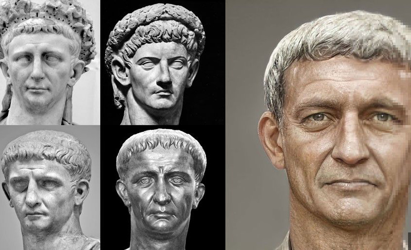 Así es como se veían realmente los emperadores del pasado - claudio-retrato-realista