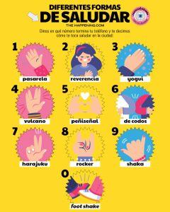 Diferentes formas de saludar