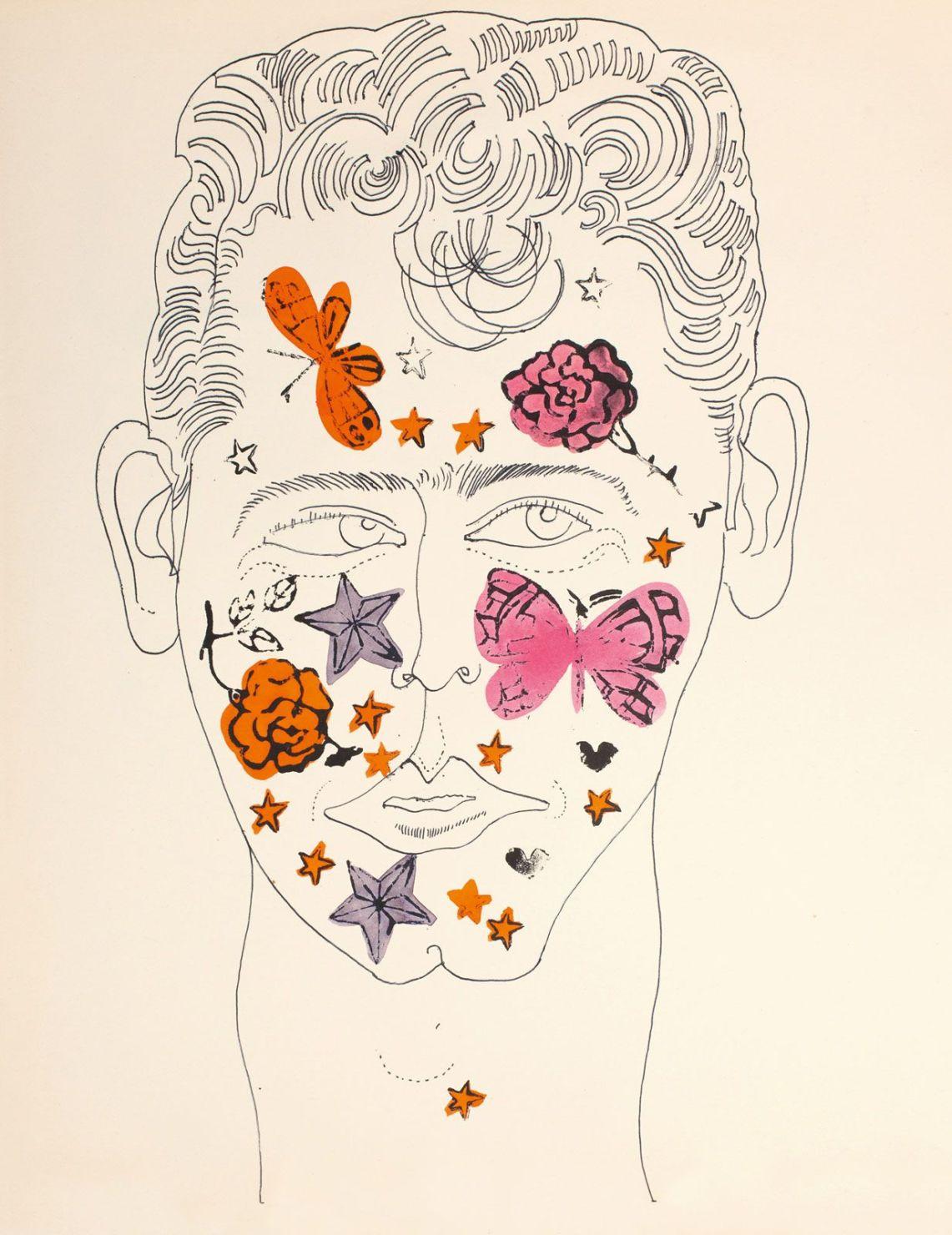 Las obras eróticas de Andy Warhol que tal vez no conocías - andy-warhol-dibujos-cara