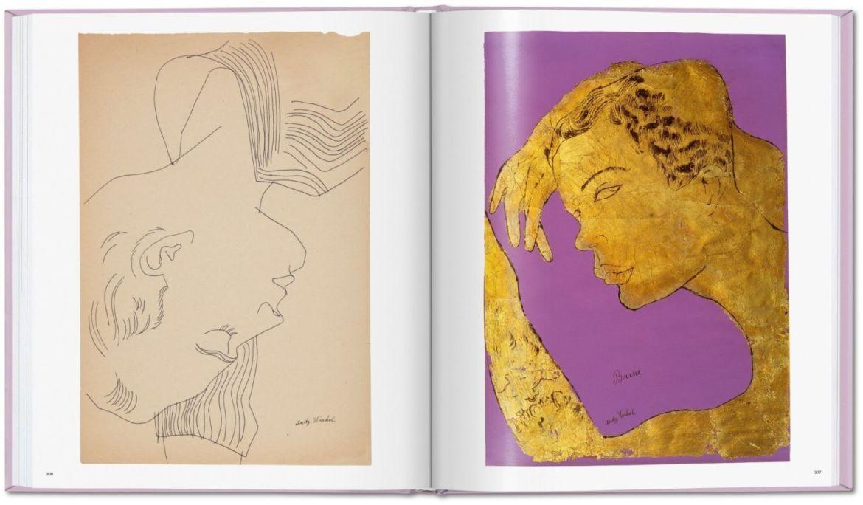 Las obras eróticas de Andy Warhol que tal vez no conocías - andy-warhol-dibujos-rostros