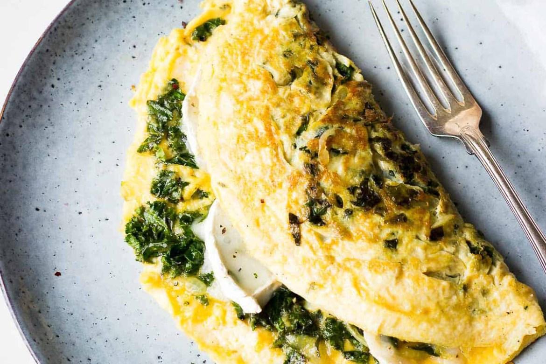 Recetas con kale para un desayuno fácil y saludable - omelette