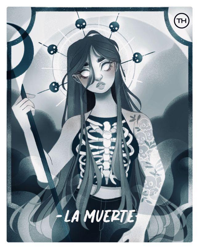 Conoce la Lotería Colaborativa de The Happening con talento mexicano - loteria-th-la-muerte