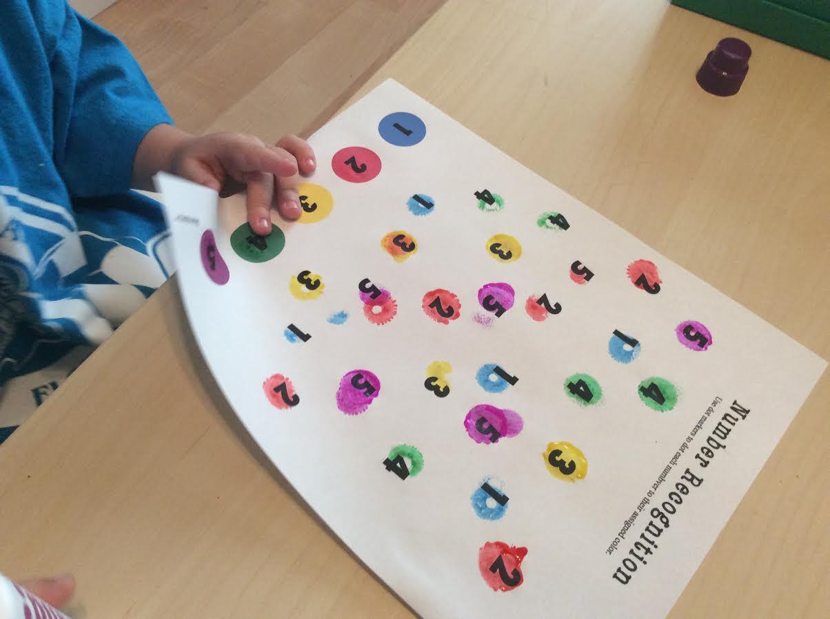 Dot Marker Numbers 1 5 Worksheet