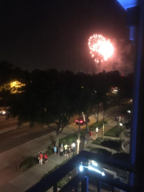 Totally spoiled watching fireworks from my room at Grand Legacy At The Park.