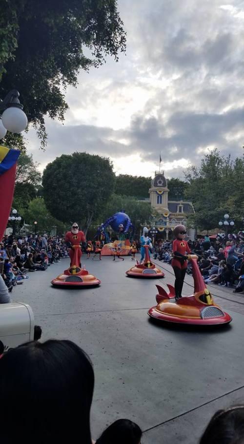 The Incredibles on Main Street, U.S.A. Disneyland