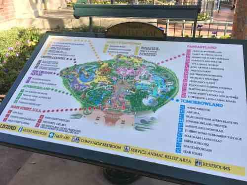 Disneyland Braille Map