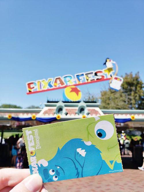 Pixar Fest Disneyland Ticket