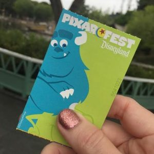 Pixar ticket